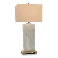 John Richard JRL-9228 Marble Slab 34 inch 150 watt Brass and White Marble Table Lamp Portable Light