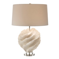 John Richard JRL-9231 Rustic Spiral 29 inch 150 watt Off White and Nickel Table Lamp Portable Light photo thumbnail