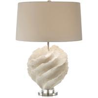 John Richard JRL-9231 Rustic Spiral 29 inch 150 watt Off White and Nickel Table Lamp Portable Light