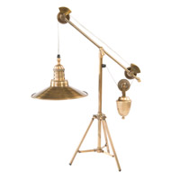 John Richard JRL-9251 Industrial 31 inch 60 watt Antique Brass Desk Lamp Portable Light