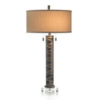 Signature 33 inch 60 watt Bronze and Gold Table Lamp Portable Light