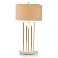 Labyrinth 38 inch 150 watt Gold Leaf and White Table Lamp Portable Light
