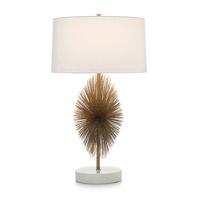 John Richard JRL-9315 Starburst 35 inch 150 watt Brass and Cream Table Lamp Portable Light