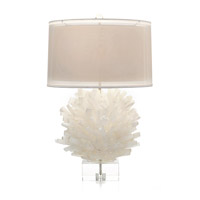 Selenite 32 inch 150 watt Translucent and White Table Lamp Portable Light