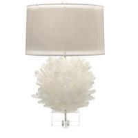 John Richard JRL-9327 Selenite 32 inch 150 watt Translucent and White Table Lamp Portable Light
