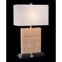 Serenity 27 inch 150 watt Clear and Ocher Table Lamp Portable Light