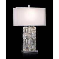 Prism 33 inch 150 watt Polished Nickel and Clear Table Lamp Portable Light