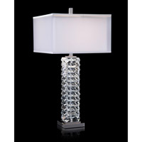 Prism 36 inch 150 watt Polished Nickel and Clear Table Lamp Portable Light
