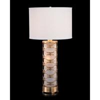 John Richard JRL-9341 Signature 34 inch 150 watt Antique Gold Leaf and White Table Lamp Portable Light
