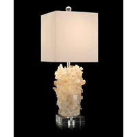 Signature 30 inch 150 watt Lemon and Clear and Nickel Table Lamp Portable Light