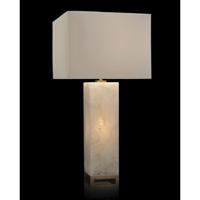 John Richard JRL-9421 Signature 35 inch 60 watt Antique Brass and White Table Lamp Portable Light