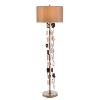 John Richard JRL-9476 Falling Agate 67 inch 150 watt Brass and Agate Floor Lamp Portable Light