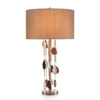 John Richard JRL-9477 Falling Agate 35 inch 150 watt Brass and Agate Table Lamp Portable Light