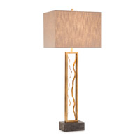 John Richard JRL-9499 Golden Canyon 39 inch 150 watt Gold and Black Table Lamp Portable Light