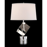 John Richard JRL-9501 Signature 29 inch 150 watt Nickel and Clear Table Lamp Portable Light