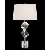 John Richard JRL-9540 Signature 33 inch 150 watt Nickel and Clear Table Lamp Portable Light