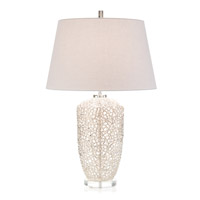 Vines 32 inch 150 watt Nickel and Clear Table Lamp Portable Light