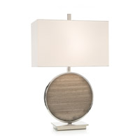 John Richard JRL-9582 Moon Mist 31 inch 150 watt Nickel and Grey Table Lamp Portable Light