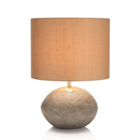 John Richard JRL-9607 Concrete 19 inch 150 watt Concrete and Brass Accent Lamp Portable Light