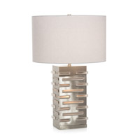 John Richard JRL-9641 Signature 28 inch 150 watt Nickel and Acrylic Table Lamp Portable Light