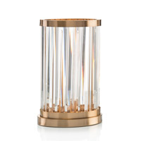 John Richard JRL-9653 Signature 16 inch 60 watt Coffee Bronze and Clear Table Lamp Portable Light