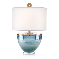 John Richard JRL-9702 Islamorada 33 inch 150 watt Coffee Bronze and Blue Table Lamp Portable Light