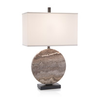 Layered Stone 31 inch 150 watt Dark Bronze Table Lamp Portable Light