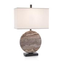 John Richard JRL-9718 Layered Stone 31 inch 150 watt Dark Bronze Table Lamp Portable Light