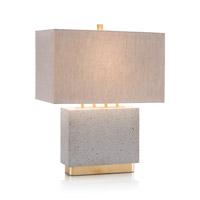 John Richard JRL-9726 Concrete 24 inch 150 watt Gold Leaf and Concrete Accent Lamp Portable Light