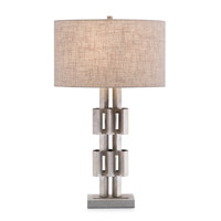 John Richard JRL-9731 Architectural 32 inch 150 watt Antique Silver and Concrete Table Lamp Portable Light