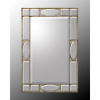 Rectangular 73 X 48 inch Gilded Silver Wall Mirror Home Decor