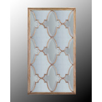 Rectangular 72 X 39 inch Gilded Silver Wall Mirror Home Decor