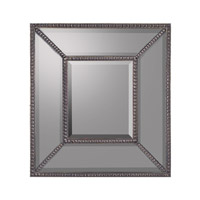 Rectangular 22 X 20 inch Gilded Silver Mirror Home Decor