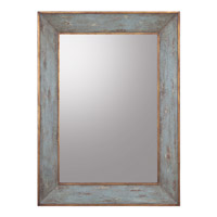 Rectangular 46 X 34 inch Hand-Painted Wall Mirror Home Decor