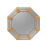 John Richard Diverse Profiles/Shapes Mirror in Gilded Gold JRM-0590
