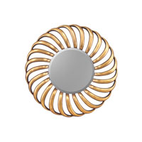 John Richard Round Mirror in Gilded Gold JRM-0591