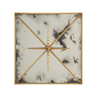 Rio 24 X 24 inch Gilded Gold Mirror Home Decor