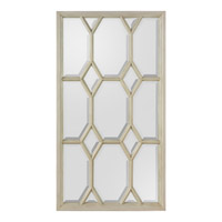 John Richard Freya Mirror in Glazed White JRM-0667