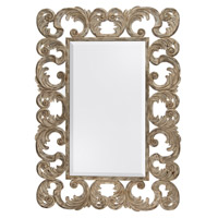 Harrison 118 X 83 inch Washed White Wall Mirror Home Decor