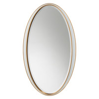 John Richard JRM-0735 Signature 66 X 38 inch Polished White Wall Mirror, Oval