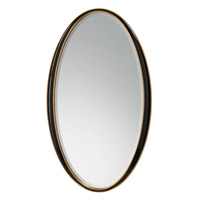 John Richard JRM-0736 Signature 66 X 38 inch Polished Black Wall Mirror, Oval