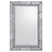 Maestro 60 X 40 inch Gilded Silver Wall Mirror Home Decor