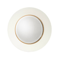 John Richard JRM-0913 Portal 24 X 24 inch Bevel Mirror and White Mirror Home Decor