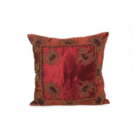 John Richard Pillow Decorative Accessory in Burnt Orange and Wine JRS-03-3248