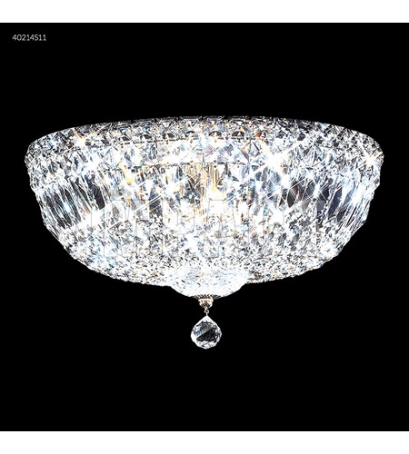 James R Moder 40214s11 Flush Mount Collection 6 Light 14 Inch Silver Ceiling