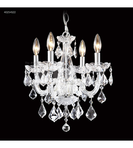 James R. Moder 40254S22 Maria Theresa 4 Light 16 inch Silver Mini Chandelier Ceiling Light photo thumbnail