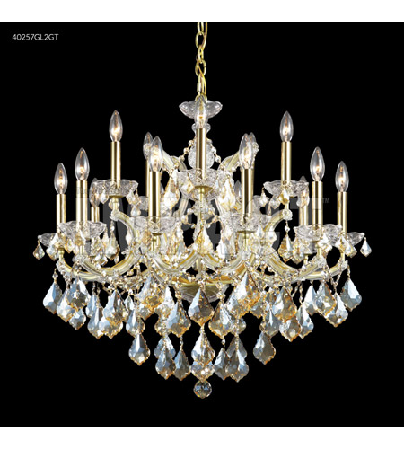 James R. Moder 40257GL2GT Maria Theresa 16 Light 29 inch Gold Lustre Chandelier Ceiling Light photo thumbnail