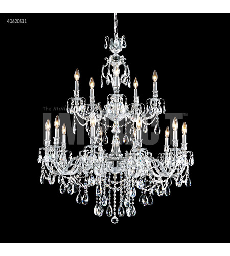 James R. Moder 40620S11 Brindisi 15 Light 36 inch Silver Crystal Chandelier Ceiling Light photo thumbnail
