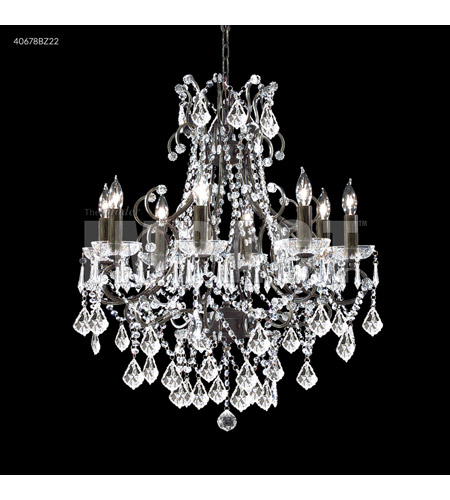 James R Moder 40678bz22 Charleston Collection 8 Light 31 Inch Bronze Chandelier Ceiling Without Veil
