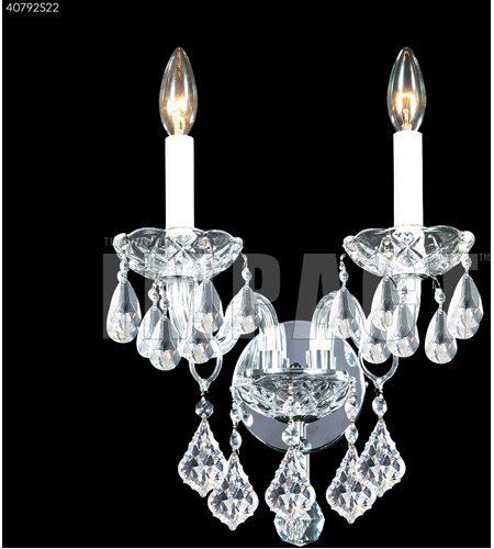 James R. Moder 40792S22 Palace Ice 2 Light Silver Wall Sconce Wall Light photo thumbnail